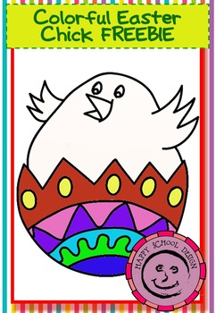 Colorful Easter Chick FREEBIE
