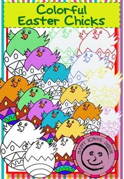 Colorful Easter Chicks Set