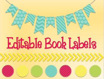 Colorful Editable Classroom Labels