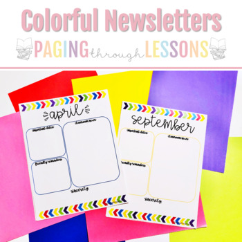 Editable Newsletters ~ Bright Colors Edition