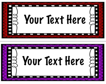 Colorful Editable Pocket Chart Word Card