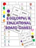 Colorful & Educational Printable Board Games
