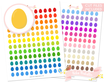 Colorful Eggs Printable Planner Stickers