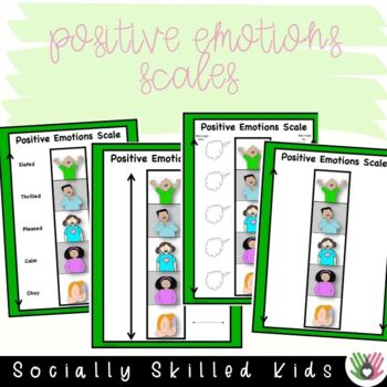SOCIAL SKILLS: Emotions Scales~ Positive and Negative Scales and Activities