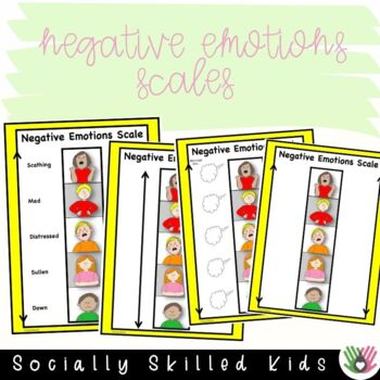 SOCIAL SKILLS Emotions Scales and Activities {Positive & Negative Scales}