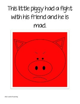 Feelings Books - Inside Out Themed with Piggies!