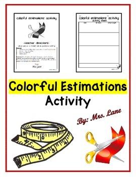 Colorful Estimations Activity