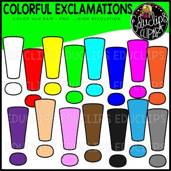 Colorful Exclamations Clip Art Set {Educlips Clipart}