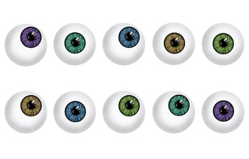 Colorful Eyeball Clip Art