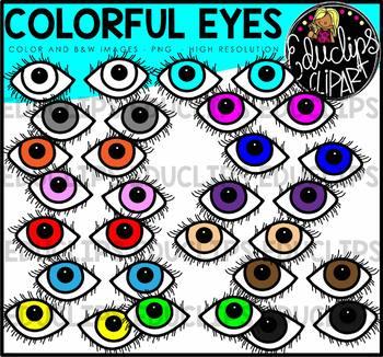 Colorful Eyes Clip Art Bundle {Educlips Clipart}