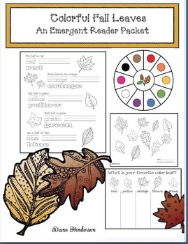 Colorful Fall Leaves: An Emergent Reader Packet