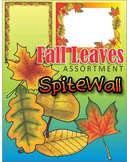 Colorful Fall Leaves Assortment with Ready Pages / Cover Pages and Frames