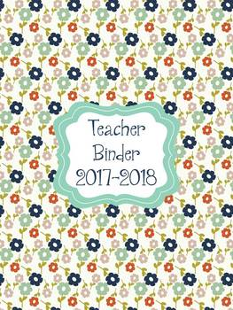 Colorful Fall Teacher Planner/Binder