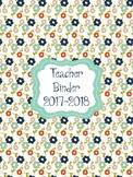 Colorful Fall Teacher Planner/Binder