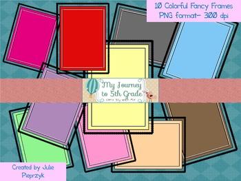 Colorful Fancy Frames- clip art
