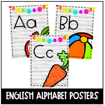 Colorful Farmhouse Alphabet Posters