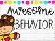 Colorful Farmhouse Behavior Clip Chart