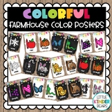 Colorful Farmhouse Color Posters