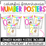Colorful Farmhouse Number Posters (TEN FRAMES)