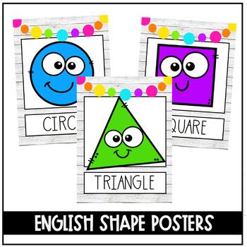 Colorful Farmhouse Shape Posters