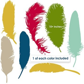 Colorful Feathers Clip Art
