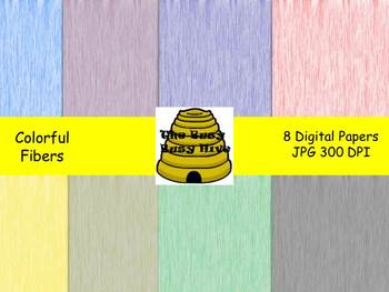 Colorful Fibers Digital Papers {8 backgrounds for personal & commercial use}