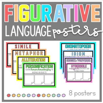 Colorful Figurative Language Poster Set