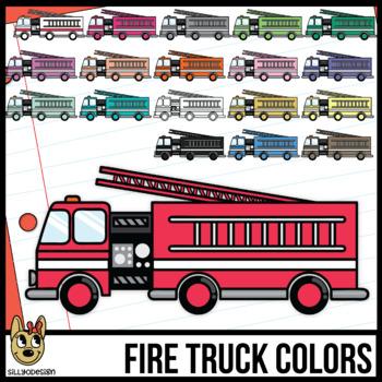 Colorful Fire Truck Clip Art