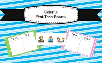 Colorful First/Then Boards