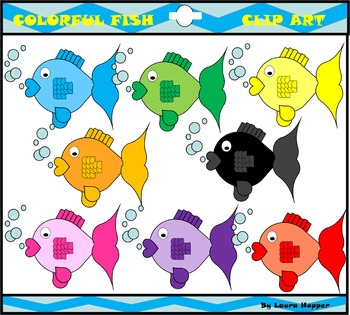 Colorful Fish Clip Art