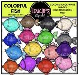 Colorful Fish Clip Art Bundle {Educlips Clipart}