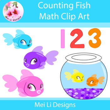 Colorful Fish Clip Art for Math