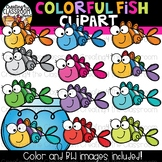 Colorful Fish Clipart  {Rainbow Clipart}
