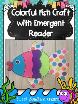 Colorful Fish Craft with Emergent Reader : Ocean Crafts : Summer Crafts