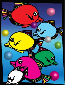 Colorful Fish and 3D Bubbles