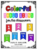 Colorful Flag Table Signs Classroom Decor