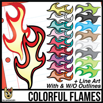 Colorful Flame Clip Art