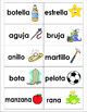 Colorful Flashcards! 20 pairs of Spanish rhyming words. Game or center activity!