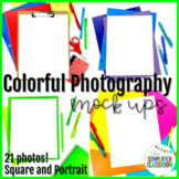 Colorful Flat Lay Photography Mock Ups