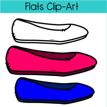 Colorful Flats (Shoes) Clipart!