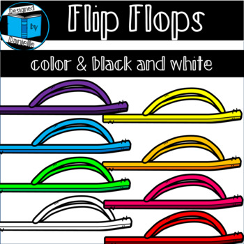 Colorful Flip Flop Clipart