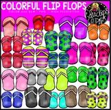 Colorful Flip Flops Clip Art Bundle {Educlips Clipart}