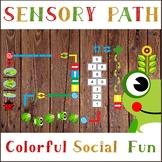 Colorful Floor Sensory Path Set / Design for floors in  Nursery School