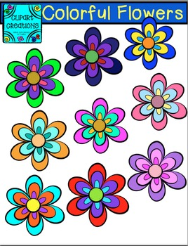 Colorful Flower Clips