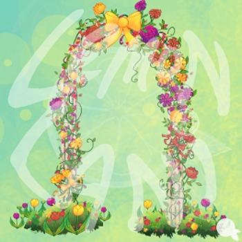 Colorful Flower Garden Clip Art