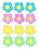 Colorful Flower Labels