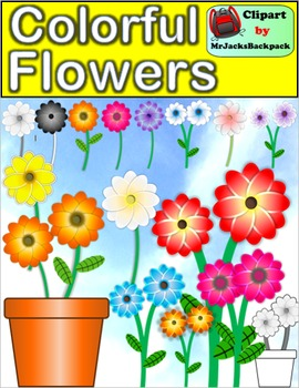 Colorful Flowers Clip Art