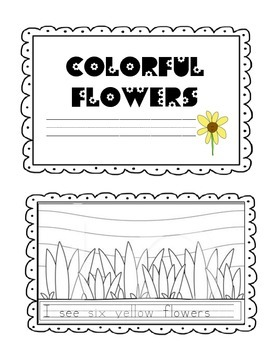 Colorful Flowers (A sight word mini interactive reader)