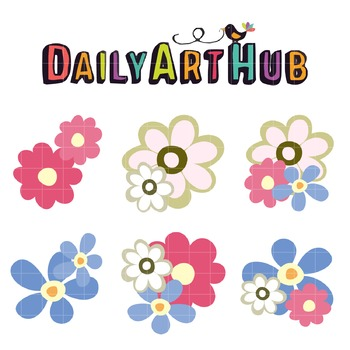Colorful Flowers Clip Art - Great for Art Class Projects!