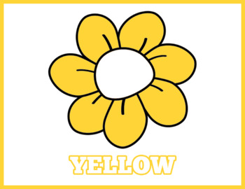 Colorful Flowers Flash Cards; Kindergarten; Preschool; Homeschool; Math Center